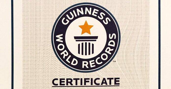 Certificat GUINNESS WORLD RECORDS DUMITRU COMANESCU 1